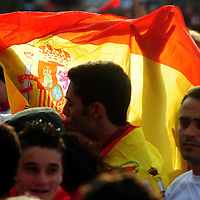 FANS CELEBRATION FOR SPAIN'S VICTORY