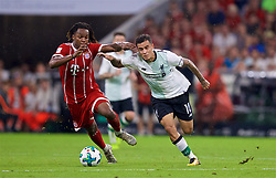 MUNICH, GERMANY - Tuesday, August 1, 2017: Liverpool's Philippe Coutinho Correia and FC Bayern Munich's Renato Sanches during the Audi Cup 2017 match between FC Bayern Munich and Liverpool FC at the Allianz Arena. (Pic by David Rawcliffe/Propaganda)