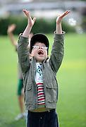 Cricket fan awaits for the ball at the National Bank's Cricket Super Camp , University oval, Dunedin, New Zealand. Thursday 2 February 2012 . Photo: Richard Hood photosport.co.nz