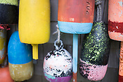 Lobster buoys in Cushing, Maine.