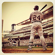 An Instagram of Miguel Cabrera of the Detroit Tigers at Target Field in Minneapolis, Minnesota.