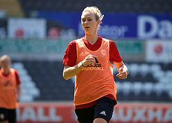 SWANSEA, WALES - Wednesday, June 6, 2018: Wales' Rhiannon Roberts during a training session at the Liberty Stadium ahead of the FIFA Women's World Cup 2019 Qualifying Round Group 1 match against Bosnia and Herzegovina. (Pic by David Rawcliffe/Propaganda)
