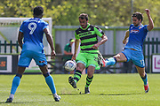 Forest Green Rovers Farrend Rawson(20) clears the ball during the EFL Sky Bet League 2 match between Forest Green Rovers and Grimsby Town FC at the New Lawn, Forest Green, United Kingdom on 5 May 2018. Picture by Shane Healey.