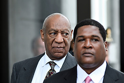 BILL COSBY exits Montgomery County Courthouse in Norristown, PA after he learned at the May 24th, 2016 preliminary hearing that the sexual assault case against him will move forward to trail.