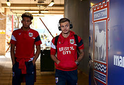 Jamie Paterson and Lloyd Kelly of Bristol City arrive at Portman Road, for the Sky Bet Championship fixture with Ipswich Town - Mandatory by-line: Robbie Stephenson/JMP - 30/09/2017 - FOOTBALL - Portman Road - Ipswich, England - Ipswich Town v Bristol City - Sky Bet Championship