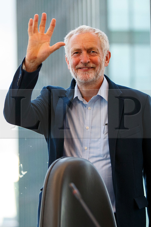 © Licensed to London News Pictures. 31/08/2016. London, UK. Leader of the opposition and Labour leadership candidate JEREMY CORBYN speaks to outline how his policy agenda benefits women on 31 August 2016 at Unison Centre, London. Photo credit: Tolga Akmen/LNP