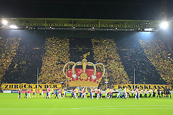 13.09.2011, Signal Iduna Park, Dortmund, GER, UEFA CL, Gruppe F, Borussia Dortmund (GER) vs Arsenal London (ENG), im Bild.Choreo Dortmunder Fans vor dem Spiel..// during the UEFA CL, group F, Borussia Dortmund (GER) vs Arsenal London on 2011/09/13, at Signal Iduna Park, Dortmund, Germany. EXPA Pictures © 2011, PhotoCredit: EXPA/ nph/  Mueller       ****** out of GER / CRO  / BEL ******