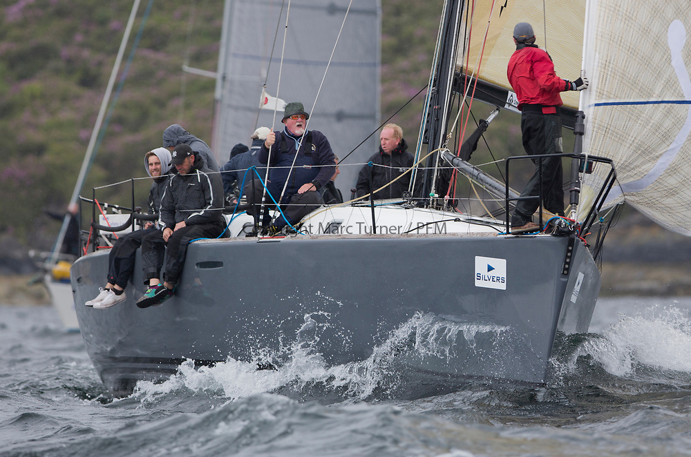 Silvers Marine Scottish Series 2017<br /> Tarbert Loch Fyne - Sailing<br /> <br /> GBR447R, Local Hero, Geoff &amp; Norman Howison, RGYC, Beneteau 44.7<br /> <br /> Credit: Marc Turner / CCC