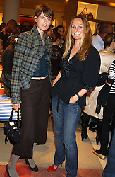 """Left to right, model STELLA TENNANT and the COUNTESS CAWDOR at a party hosted by Christopher Bailey to celebrate the launch of """"The Snippy World of New Yorker Fashion Artist Michael Roberts"""" held at Burberry, 21-23 New Bond Street, London on 20th September 2005.<br /><br />NON EXCLUSIVE - WORLD RIGHTS"""
