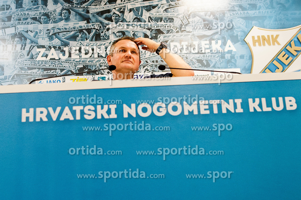 Matjaz Kek head coach of HNK Rijeka during press conference  after winning Croatian national soccer league after football match between HNK Rijeka and HNK Cibala in Round #35 of 1st HNL League 2016/17, on May 21st, 2017 in Rujevica stadium, Rijeka, Croatia. Photo by Grega Valancic / Sportida