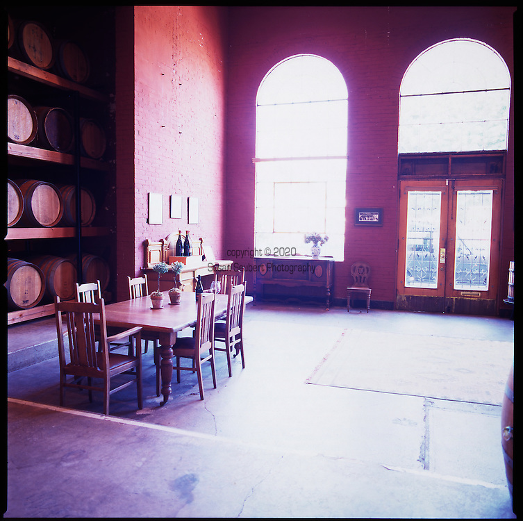 The Tasting room at Panther Creek Cellars in McMinnville, Oregon, in the heart of Oregon Wine Country.  http://www.panthercreekcellars.com/