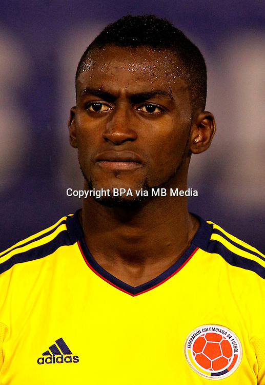 Football Fifa Brazil 2014 World Cup Matchs / South America - Group Matches /<br /> Paraguay vs Colombia 1-2  ( Defensores del Chaco Stadium-Asuncion ,Paraguay )<br /> Jackson MARTINEZ of Colombia  ,during the match between Paraguay and Colombia