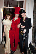 RACHEL2; SEBASTIAN HORSLEY; VIVIENNE WEST, First night party for Dandy In The Underworld which opened at the  Soho Theatre, 21 Dean Street. House Of St Barnabas, 1 Greek Street, 15 June 2010. -DO NOT ARCHIVE-© Copyright Photograph by Dafydd Jones. 248 Clapham Rd. London SW9 0PZ. Tel 0207 820 0771. www.dafjones.com.