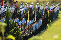 October 1, 2018 - Madiun, East Java, Indonesia - Participants held a commemoration ceremony of the Pancasila Power Day at the Kresek Monument. (Credit Image: © Ajun Ally/Pacific Press via ZUMA Wire)