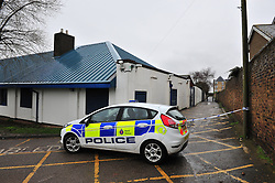© Licensed to London News Pictures. 05/03/2017<br /> ALLEYWAY NEXT TO SHEERNESS SWIMMING LEADING TO PARK AREA.<br /> Police have sealed off the park from the Broadway and the seafront down to the sea.<br />  The body of a baby has been found on small piece of park land at the back of Sheerness Swimmimg Pool near the Broadway, Sheerness next to St Henry and St Elizabeth Church.<br /> Photo credit :Grant Falvey/LNP