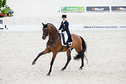 Kristy Oatley, (AUS), Ronan 2 - Grand Prix Team Competition Dressage - Alltech FEI World Equestrian Games™ 2014 - Normandy, France.<br /> © Hippo Foto Team - Leanjo de Koster<br /> 25/06/14