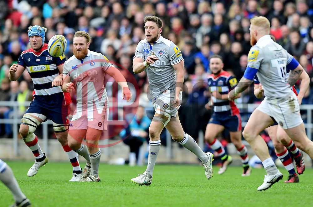 Rhys Priestland (co-capt) of Bath Rugby  - Mandatory by-line: Joe Meredith/JMP - 26/02/2017 - RUGBY - Ashton Gate - Bristol, England - Bristol Rugby v Bath Rugby - Aviva Premiership