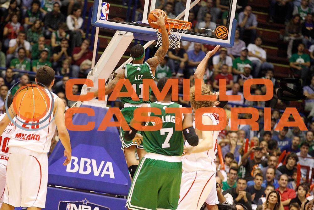 DESCRIZIONE : Milano Nba Europe Live Tour 2012 Ea7 Emporio Armani Milano Boston Celtics<br /> GIOCATORE : Courtney Lee<br /> CATEGORIA : Schiacciata<br /> SQUADRA : Boston Celtics<br /> EVENTO : Campionato Lega A 2012-2013<br /> GARA : Ea7 Emporio Armani Milano Boston Celtics<br /> DATA : 07/10/2012<br /> SPORT : Pallacanestro <br /> AUTORE : Agenzia Ciamillo-Castoria/G.Cottini<br /> Galleria : Lega Basket A 2012-2013  <br /> Fotonotizia : Milano Nba Europe Live Tour 2012 Ea7 Emporio Armani Milano Boston Celtics<br /> Predefinita :