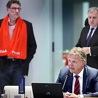 Nederland, Haarlem , 2 februari 2015.<br /> aftrap van de verkiezingscampagne voor de Provinciale Staten Verkiezingen Noord-Holland<br /> <br /> het voorstellen van van de lijstrekkers en het invullen van van de stemwijzer.<br /> Aan het woord is Jaap Bond van de CDA.<br /> <br /> Foto:Jean-Pierre Jans