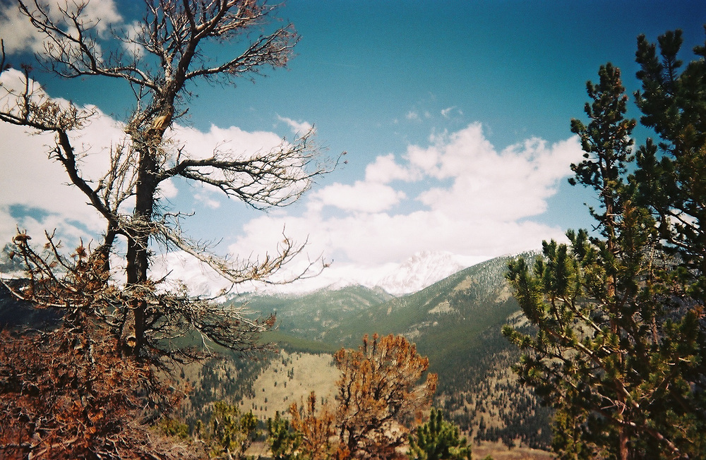 1. When was this photo taken?<br /> <br /> 2008?<br /> <br /> 2. Where was this photo taken?<br /> <br /> Rocky Mountain National Park.<br /> <br /> 3. Who took this photo?<br /> <br /> Me.<br /> <br /> 4. What are we looking at here?<br /> <br /> A view of Rocky Mountain National Park in Colorado.<br /> <br /> 5. How does this old photo make you feel? <br /> <br /> Not old, the scene is older than me.<br /> <br /> 6. Is this what you expected to see?<br /> <br /> Yes<br /> <br /> 7. Does this photo bring back any memories?<br /> <br /> Yes, of living in Colorado and feeling like there was always so much to explore<br /> <br /> 8. How do you think others will respond to this photo?<br /> <br /> Positively, it's a beautiful scene.