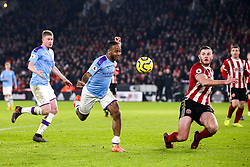 Raheem Sterling of Manchester City takes on Jack O'Connell of Sheffield United - Mandatory by-line: Robbie Stephenson/JMP - 21/01/2020 - FOOTBALL - Bramall Lane - Sheffield, England - Sheffield United v Manchester City - Premier League