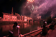 14th of July, Bastille day firework display Limoux France