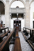 confessional with church benches, San Miniato al Monte, Florence, Italy