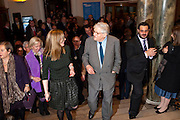 CURATOR; EDITH DEVANEY; SIR DAVID HOCKNEY, Opening of David Hockney ' A Bigger Picture' Royal Academy. Piccadilly. London. 17 January 2012