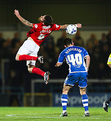 Romain Vincelot of Coventry City and Ian Henderson of Rochdale - Mandatory byline: Matt McNulty/JMP - 07966 386802 - 20/10/2015 - FOOTBALL - Gigg Lane - Rochdale, England - Rochdale v Coventry - Sky Bet League One