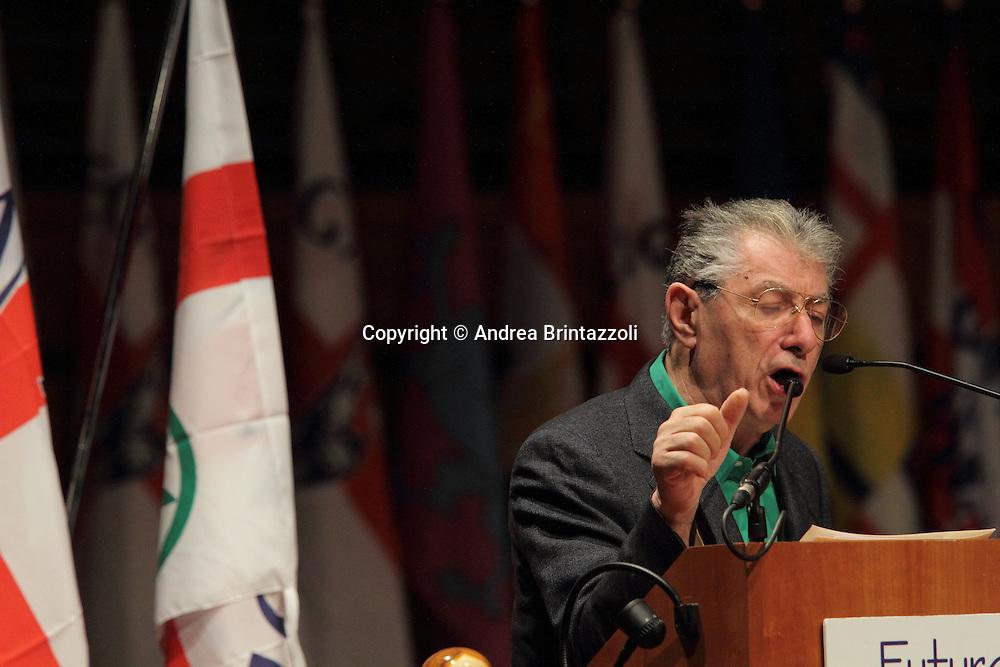 Torino 15 Dicembre 2013. Lingotto Fiere Congresso Federale Lega Nord Padania.<br /> Umberto Bossi