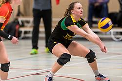 17-03-2018 NED: Prima Donna Kaas Huizen - VC Sneek, Huizen<br /> PDK verliest kansloos met 3-0 van Sneek / Kirsten Sparnaay #6 of PDK Huizen
