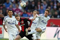 23.10.2011,  BayArena, Leverkusen, GER, 1.FBL, Bayer 04 Leverkusen vs Schalke 04, im Bild.Andre Schürrle (Leverkusen #9) gegen Benedikt Höwedes (Schalke #4)..// during the 1.FBL, Bayer Leverkusen vs Schalke 04 on 2011/10/23, BayArena, Leverkusen, Germany. EXPA Pictures © 2011, PhotoCredit: EXPA/ nph/  Mueller       ****** out of GER / CRO  / BEL ******