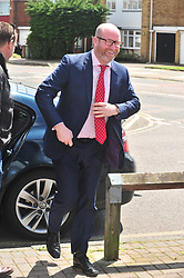&copy; Licensed to London News Pictures. 07/06/2017<br /> Paul Nuttall   arriving<br /> UKIP Leader Paul Nuttall in Corrington,Essex this afternoon on a walkabout on the last day of the election campaign for 2017.<br /> Photo credit: Grant Falvey/LNP