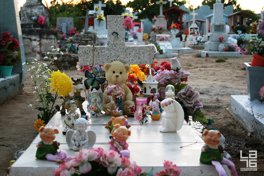 Photographs were taken at a public cemetery during The Day of The Dead celebrations in San Jose del Cabo, Baja California Sur, Mexico.<br />
