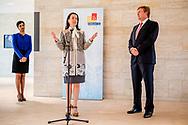 DEN HAAG - Koning Willem-Alexander opent het gebouw van Eurojust, een agentschap dat het opneemt tegen grensoverschrijdende georganiseerde misdaad. Het nieuwe gebouw staat in de internationale zone in Den Haag. ANP ROYAL IMAGES ROBIN UTRECHT