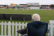 Spectator on last day at Grace Rd during the Specsavers County Champ Div 2 match between Leicestershire County Cricket Club and Lancashire County Cricket Club at the Fischer County Ground, Grace Road, Leicester, United Kingdom on 26 September 2019.