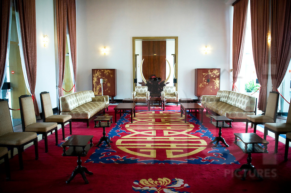 Lounge in the Reunification Palace, Ho Chi Minh city, Vietnam, Southeast Asia