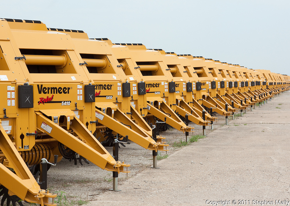 A row of balers at Vermeer in Pella, Iowa on Thursday, July 28, 2011.