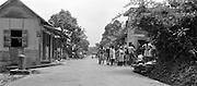 Bygatan i Blanchisseuse, Trinidad.
