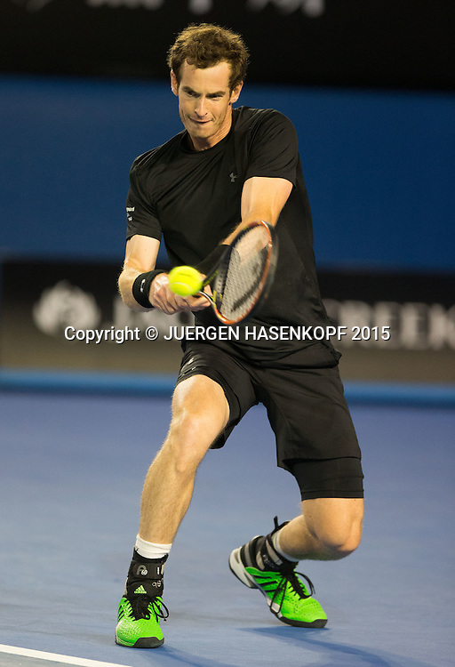 Andy Murray (GBR)<br /> <br /> Tennis - Australian Open 2015 - Grand Slam ATP / WTA -  Melbourne Olympic Park - Melbourne - Victoria - Australia  - 27 January 2015.