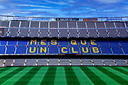 Camp Nou stadium interior, Barcelona, Spain.