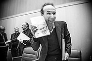 Roberto Benigni at the presentation of the book interview with the pope