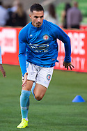 MELBOURNE, AUSTRALIA - APRIL 13: Melbourne City forward Jamie Maclaren (29) warms up prior to the match during round 25 of the Hyundai A-League soccer match between Melbourne City FC and Adelaide United on April 13, 2019 at AAMI Park in Melbourne, Australia. (Photo by Speed Media/Icon Sportswire)