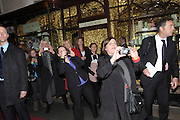 THE DUCHESS OF CAMBRIDGE MEETING GUESTS AND SHOPKEEPERS, The Duchess of Cornwall switches on the Christmas lights at the Burlington Arcade in Piccadilly, London, November 23,  London. 23 November 2011.
