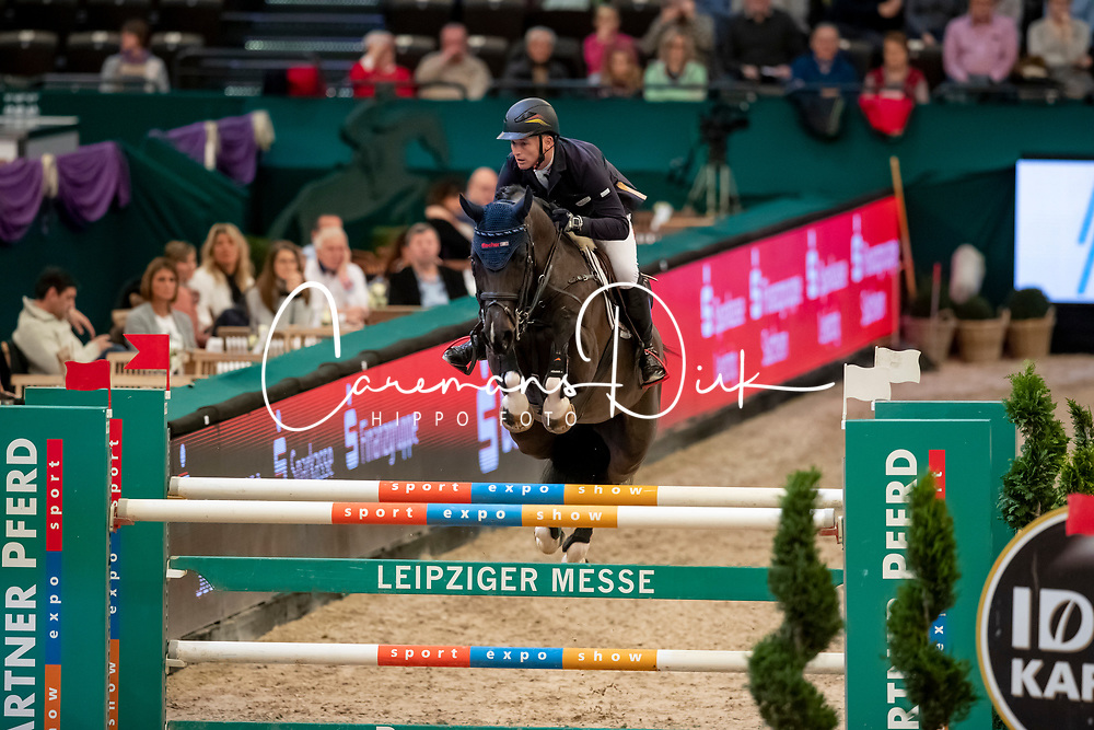 Jung Michael, GER, Dark Diamond 5<br /> Leipzig - Partner Pferd 2019<br /> © Hippo Foto - Stefan Lafrentz