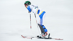 26.01.2016, Planai, Schladming, AUT, FIS Weltcup Ski Alpin, Schladming, Slalom, Herren, 2. Durchgang, im Bild Axel Baeck (SWE) // Axel Baeck of Sweden reacts after his 2nd run of men's Slalom Race of Schladming FIS Ski Alpine World Cup at th Planai in Schladming, Austria on 2016/01/26. EXPA Pictures © 2016, PhotoCredit: EXPA/ Johann Groder