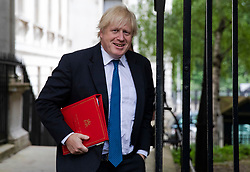 © Licensed to London News Pictures. 12/06/2018. London, UK. Foreign Secretary Boris Johnson on Downing Street before the Cabinet meeting. Photo credit: Rob Pinney/LNP