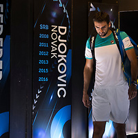 Marin Cilic of Croatia ahead of his championship match of the 2018 Australian Open on day 14 at Rod Laver Arena in Melbourne, Australia on Sunday afternoon January 28, 2018.<br /> (Ben Solomon/Tennis Australia)