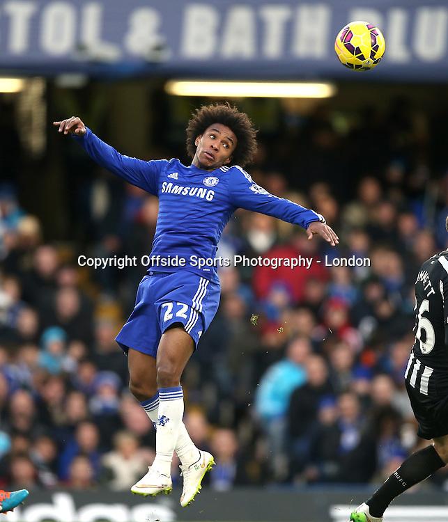 10 January 2015 Premier League Football - Chelsea v Newcastle United ;  Willian in action for Chelsea FC.<br /> Photo: Mark Leech