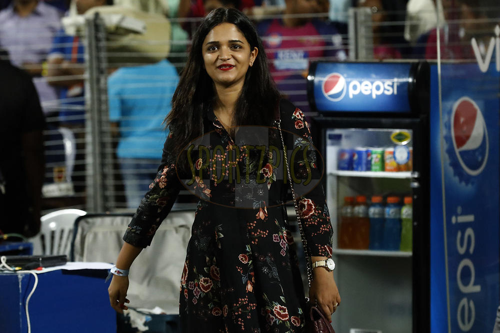 Ajinkya Rahane wife Radhika Dhopavkar after the match 39 of the Vivo 2017 Indian Premier League between the Rising Pune Supergiants and the Gujarat Lions held at the MCA Pune International Cricket Stadium in Pune, India on the 1st May 2017<br /> <br /> Photo by Arjun Singh - Sportzpics - IPL